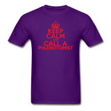 """Keep Calm and Call A Phlebotomist"" (red) - Men's T-Shirt purple / S - LabRatGifts - 11"