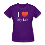 """I ♥ My Lab"" (white) - Women's T-Shirt purple / S - LabRatGifts - 3"