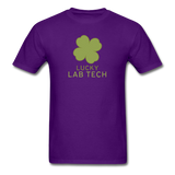 """Lucky Lab Tech"" - Men's T-Shirt purple / S - LabRatGifts - 5"