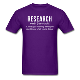 """Research"" (white) - Men's T-Shirt purple / S - LabRatGifts - 3"