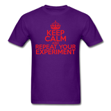 """Keep Calm and Repeat Your Experiment"" (red) - Men's T-Shirt purple / S - LabRatGifts - 11"