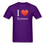 """I ♥ Science"" (white) - Men's T-Shirt purple / S - LabRatGifts - 5"