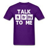 """Talk NErDy To Me"" (white) - Men's T-Shirt purple / S - LabRatGifts - 14"