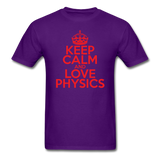 """Keep Calm and Love Physics"" (red) - Men's T-Shirt purple / S - LabRatGifts - 11"