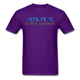 """-273.15 ºC is the Coolest"" (gray) - Men's T-Shirt purple / S - LabRatGifts - 11"