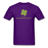 """Lucky Microbiologist"" - Men's T-Shirt purple / S - LabRatGifts - 5"