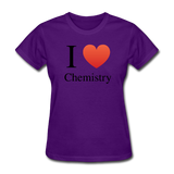 """I ♥ Chemistry"" (black) - Women's T-Shirt purple / S - LabRatGifts - 9"