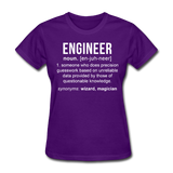 """Engineer"" (white) - Women's T-Shirt purple / S - LabRatGifts - 5"