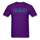 """Leave Me Alone I'm Busy"" - Men's T-Shirt purple / S - LabRatGifts - 5"