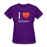 """I ♥ Science"" (white) - Women's T-Shirt purple / S - LabRatGifts - 3"