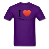 """I ♥ Chemistry"" (black) - Men's T-Shirt purple / S - LabRatGifts - 11"