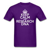 """Keep Calm and Research DNA"" (white) - Men's T-Shirt purple / S - LabRatGifts - 9"