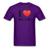 """I ♥ My Lab"" (black) - Men's T-Shirt purple / S - LabRatGifts - 10"