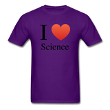 """I ♥ Science"" (black) - Men's T-Shirt purple / S - LabRatGifts - 11"