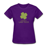 """Lucky Lab Tech"" - Women's T-Shirt purple / S - LabRatGifts - 5"