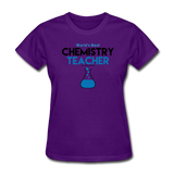 """World's Best Chemistry Teacher"" - Women's T-Shirt purple / S - LabRatGifts - 5"