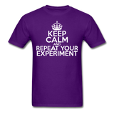 """Keep Calm and Repeat Your Experiment"" (white) - Men's T-Shirt purple / S - LabRatGifts - 9"