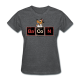 """Bacon Periodic Table"" - Women's T-Shirt deep heather / S - LabRatGifts - 13"