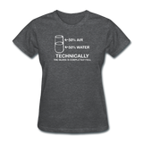 """Technically the Glass is Completely Full"" - Women's T-Shirt deep heather / S - LabRatGifts - 9"