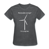 """I'm a Big Fan"" - Women's T-Shirt deep heather / S - LabRatGifts - 9"
