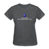 """If You Like Water"" - Women's T-Shirt deep heather / S - LabRatGifts - 9"