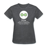 """Biology Division"" - Women's T-Shirt deep heather / S - LabRatGifts - 9"