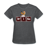 """Wine Periodic Table"" - Women's T-Shirt deep heather / S - LabRatGifts - 12"