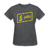 """May the Force Be With You"" - Women's T-Shirt deep heather / S - LabRatGifts - 9"
