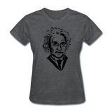 """Albert Einstein"" - Women's T-Shirt deep heather / S - LabRatGifts - 7"