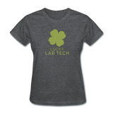 """Lucky Lab Tech"" - Women's T-Shirt deep heather / S - LabRatGifts - 6"