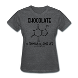 """Chocolate"" - Women's T-Shirt deep heather / S - LabRatGifts - 10"