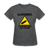 """Warning Compressed Gas Inside"" - Women's T-Shirt deep heather / S - LabRatGifts - 5"