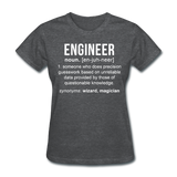 """Engineer"" (white) - Women's T-Shirt deep heather / S - LabRatGifts - 6"