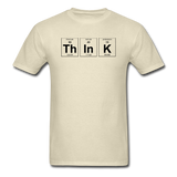 """ThInK"" (black) - Men's T-Shirt khaki / S - LabRatGifts - 3"