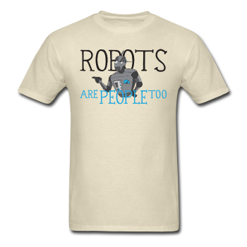 """Robots are People too"" - Men's T-Shirt khaki / S - LabRatGifts - 1"