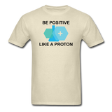 """Be Positive"" (black) - Men's T-Shirt khaki / S - LabRatGifts - 4"