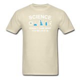 """Science Doesn't Care"" - Men's T-Shirt khaki / S - LabRatGifts - 12"