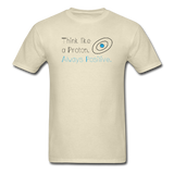 """Think like a Proton"" (black) - Men's T-Shirt khaki / S - LabRatGifts - 4"