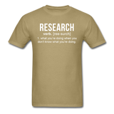 """Research"" (white) - Men's T-Shirt khaki / S - LabRatGifts - 15"