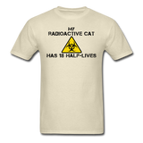 """My Radioactive Cat has 18 Half-Lives"" - Men's T-Shirt khaki / S - LabRatGifts - 10"