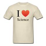 """I ♥ Science"" (black) - Men's T-Shirt khaki / S - LabRatGifts - 4"