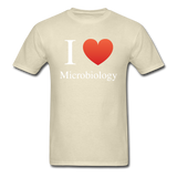 """I ♥ Microbiology"" (white) - Men's T-Shirt khaki / S - LabRatGifts - 10"