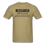 """Research"" (black) - Men's T-Shirt khaki / S - LabRatGifts - 15"