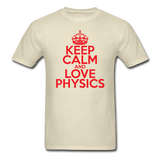 """Keep Calm and Love Physics"" (red) - Men's T-Shirt khaki / S - LabRatGifts - 4"