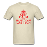 """Keep Calm and Trust Your Lab Tech"" (red) - Men's T-Shirt khaki / S - LabRatGifts - 4"