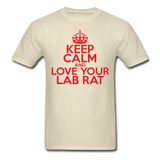 """Keep Calm and Love Your Lab Rat"" (red) - Men's T-Shirt khaki / S - LabRatGifts - 4"