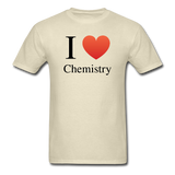 """I ♥ Chemistry"" (black) - Men's T-Shirt khaki / S - LabRatGifts - 5"