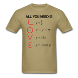 """All You Need is Love"" - Men's T-Shirt khaki / S - LabRatGifts - 11"