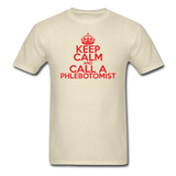 """Keep Calm and Call A Phlebotomist"" (red) - Men's T-Shirt khaki / S - LabRatGifts - 4"