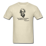 """Albert Einstein: T-Shirts Quote"" - Men's T-Shirt khaki / S - LabRatGifts - 4"
